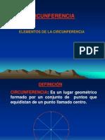 ELEMENTOS DE CIRCUNFERÉNCIA