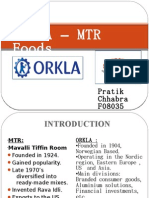 Orkla-MTR Foods Deal