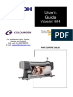 Mutoh ValueJet 1614 User Guide
