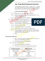 Microsoft PowerPoint Shortcut Keys Sample