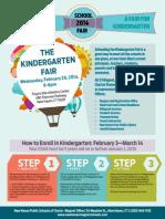 New Haven Public Schools Kindergarten Fair Flyer