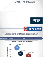 Hdfc Over the Decade
