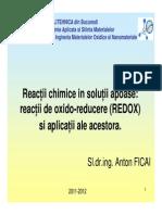 Reactii Redox Si Aplicatii Ale Acestora