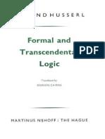 Husserl Trans. Cairns - Formal and Transcendental Logic