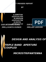ppt for DESIGN AND ANALYSIS OF TRIPLE BAND  APERTURE COUPLED  MICROSTRIPANTENNA