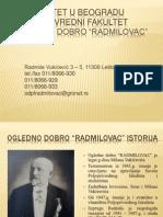 "Ogledno dobro ""Radmilovac"" Poljoprivrednog fakulteta Beograd  pp prezentacija"