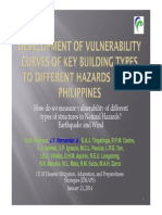 Development of Vulnerability Curves of Key Building Types to Different Hazards in the Philippines