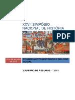 caderno de resumos XXVII Simpósio nacional de História - 2014