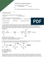 3ª Lista de Exercícios de Química Orgânica II