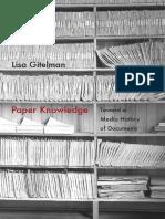 Paper Knowledge by Lisa Gitelman