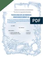 DISEÑO EXPERIMENTAL DE UNA MINICENTRAL HIDROELECTRICA CON ENERGIAS RENOVABLES