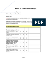 Feedback Form for Artifacts and ILRS Project