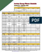 spring 2014 schedule - full