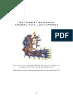 Fray Bernardino de Sahagun Creencias y Costumbres