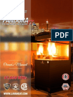 Lava Heat Italia - Pandora Portable Fire Cabinet - Owners Manual