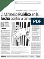 Ministerio Público en la lucha contra la criminalidad.