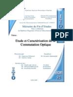 Etude et caractérisation de la commutation optique