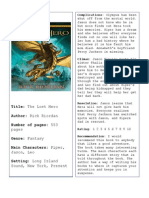 The Lost Hero Book Report
