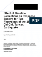 Effect of Baseline Corrections on Response Spectra for Two Recordings of the 1999 Chi-Chi Taiwan Earthquake
