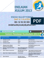 Penilaian Dan Model Rapor SMP Kurikulum 2013