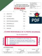 1.- Instrucción de trabajo para efectuar cambio de filtro de carga (FG-101 AB) de la Planta H.