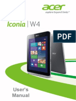 Acer Iconia w4 Manual