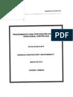 Procedimiento Para Perforacion Horizaontal Direccional Controlada - Pe-CA-co-0013-2010