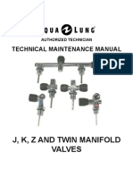 Aqualung J,K,Z and Twin Manafold Valve Technician Service Manuals