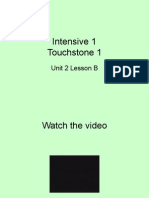 Intensive 1 Touchstone 1