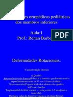 01. Deformidades Ortopédicas Pediátricas dos MMII 11.03.2009