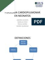 Fisiologia Cardiopulmonar en Neonatos