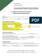 Fine Arts - Applications - Artsure - Museum Fine Arts Application