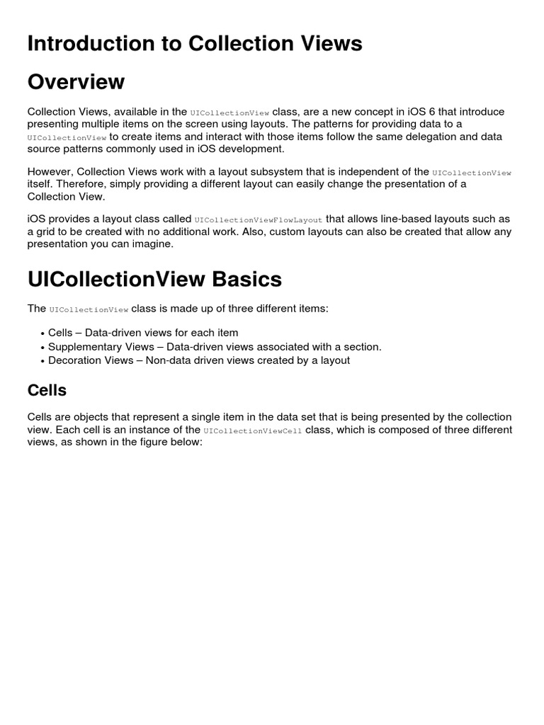 Collection Views | Inheritance (Object Oriented Programming