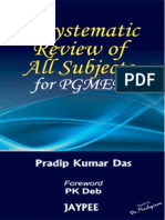 A Systematic Review of Subjects for PG Medical Entrance Examinations