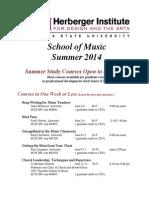 ASU Summer 2014 Music Education