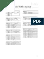 Ejercicios Excel 2