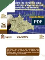 Zonas de Riesgo Por Sismo Del Estado de Oaxaca