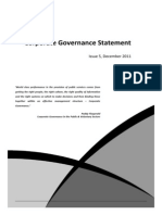 ACT Health - Corporate Governance Statement