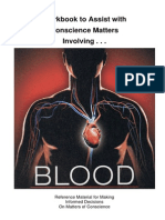 Blood Workbook to Assist With Conscience Matters Involving Blood