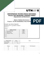 Filtro Pasabanda 2 GHz y AB=200 MHz Con Microstrip