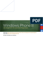 Absolute Beginners for Windows Phone 8