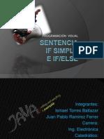 SENTENCIA if Simple e if-else