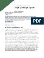 Towards Ultrahigh-Speed High-Capacity Networks