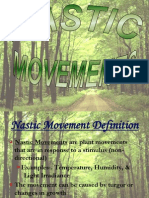 Plants Nastic Movements