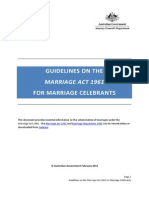 Guidelines on the Marriage Act 1961 for Marriage Celebrants