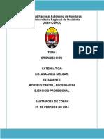 Informe Organización Rossely