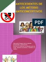 Antedecentes de Los Metodos Anticonceptivos