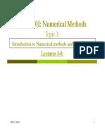 SE-301:Numerical Methods