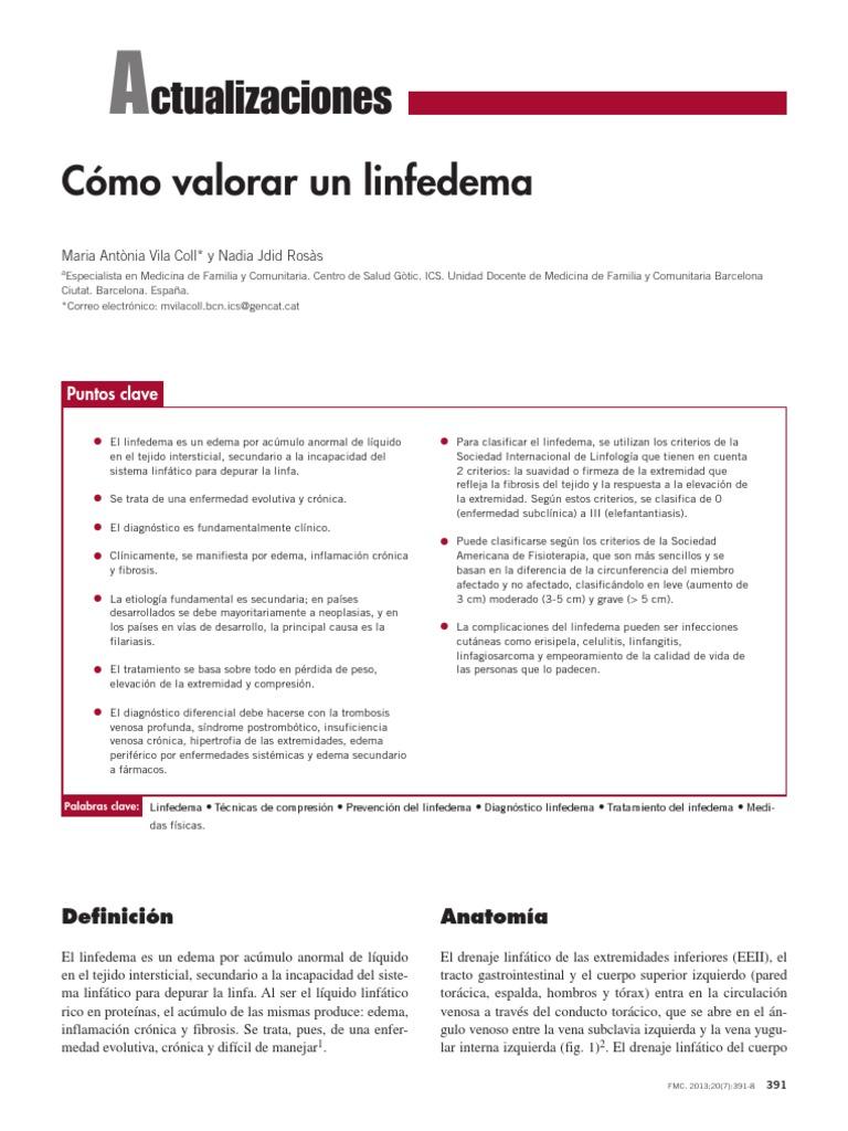abordaje inicial linfedema