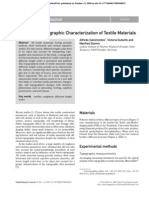 Advances in Topographic Characterization of Textile Materials